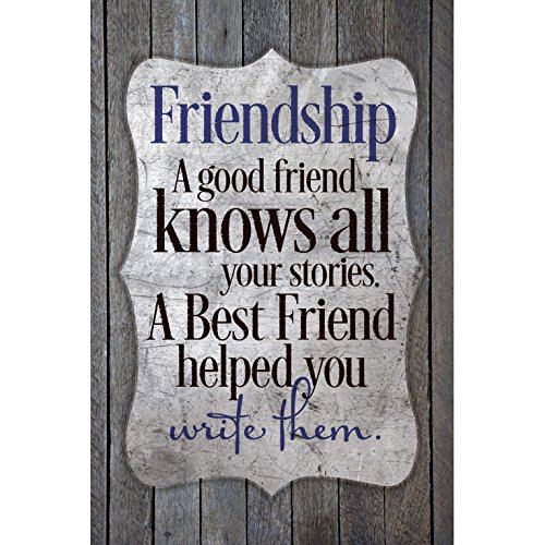 Dexsa Friendship-A Good Friend Knows.New Horizons Wood Plaque