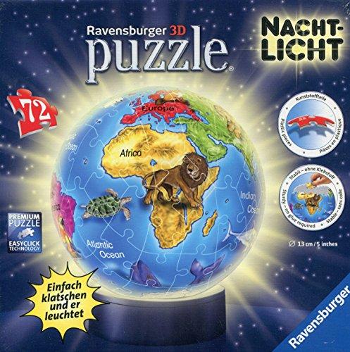 Ravensburger 12142 - Nachtlicht Kindererde Puzzleball, 72 Teile