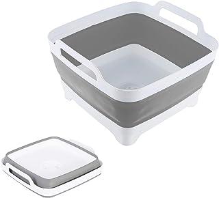THANSTAR 洗い桶 折りたたみ おしゃれ キッチン バケツ シリコン 四角 畳める 洗い 桶 大容量 台所 シンク 排水 食器 かご スリム ソフト 収納 水切りカゴ 排水口 軽量