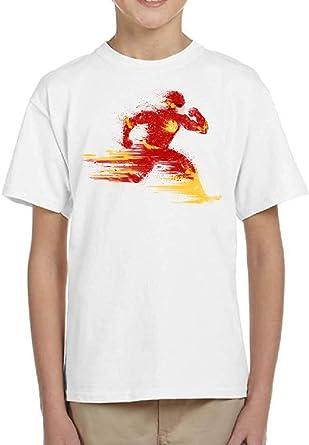 Camiseta de NIÑOS Flash Comic DC 001