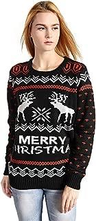 Women's Patterns Reindeer Snowman Tree Snowflakes Christmas Sweater Cardigan