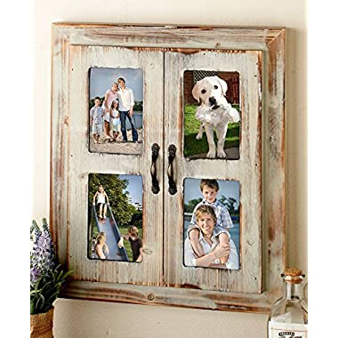 The Lakeside Collection Rustic Window Collage Frame-Distressed Brown