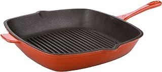 "Berghoff Neo 11"" Square Cast Iron Grill Pan, Orange"