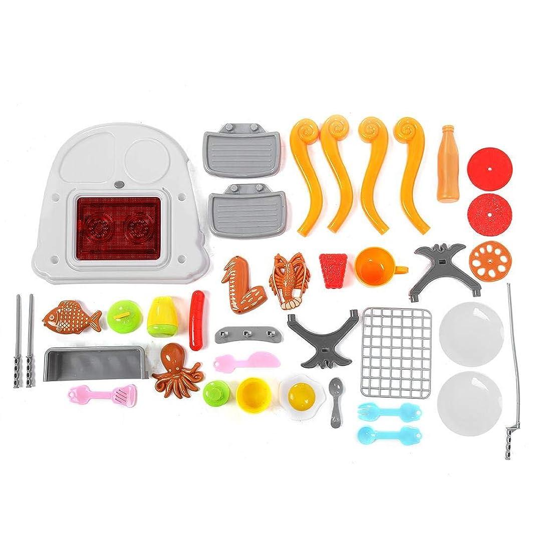 話をするテストゲインセイ遊ぶ家のおもちゃの幼児のための携帯用耐久のプラスチックロールプレーのおもちゃのバーベキューのおもちゃ