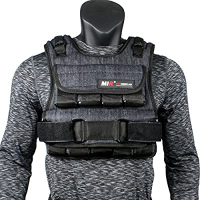 miR Air Flow Weighted Vest with Zipper Option 20lbs - 60lbs (60lbs, Standard)