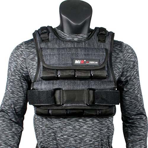 miR Air Flow Adjustable Weighted Vest, 20 lb