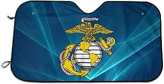 USA Marine Corps Car Windshield Sun Shade UV Protect Foldable Accordion Durable Windshield Sun Shades to Keep Your Vehicle Cool and Damage Free