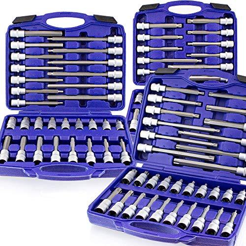 BITUXX 88 tlg Innen Vielzahn Torx Sechskant Inbus Steckschlüssel Werkzeug Set Stecknuss Nuss Satz