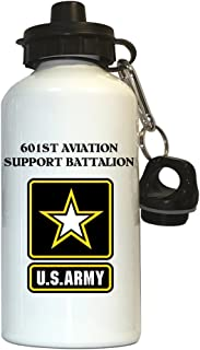 601st Aviation Support Battalion - US Army Water Bottle White, 1022