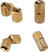 DEDC 10 Pack Verborgen Onzichtbare Verborgen Koperen Vat Scharnier 10 mm 180 ° Openingshoek voor houten deuren, kastdeure...