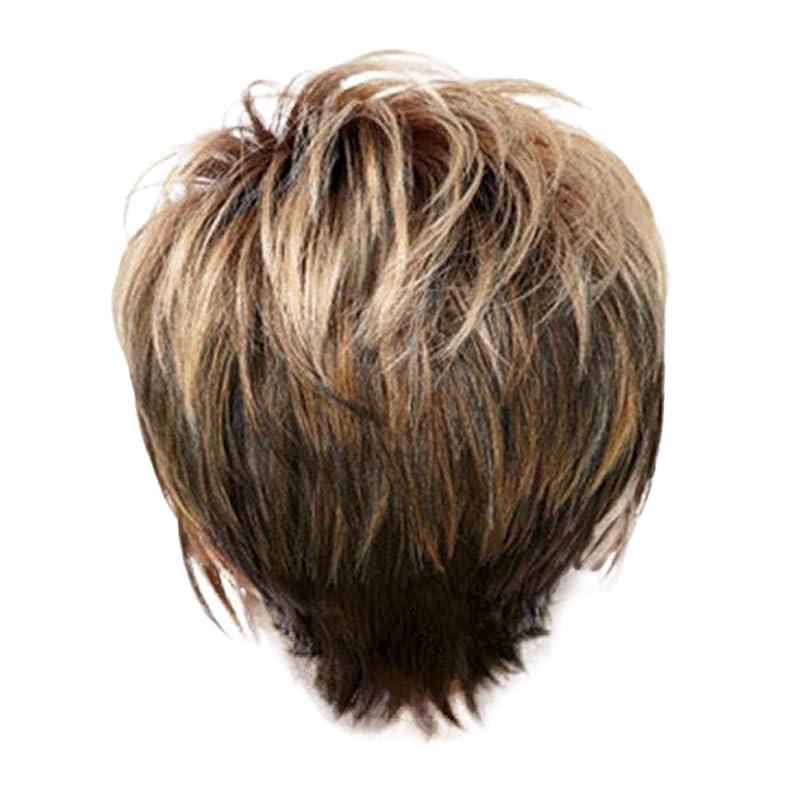 八百屋でるトムオードリースウィッグ女性の金茶色の短いストレートヘアファッションセクシーなかつら31 cm
