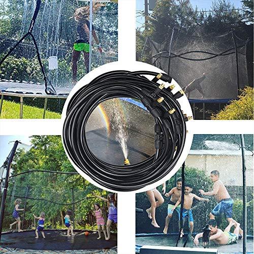 Vercico Trampolin Sprinkler/Trampolin Wasserpark, PE Hochdruckzerstäubung Kühlsprinkler 15 M für Trampolin Spiele im Freien Wasserspiel Sprinkler für Kinder Kleinkind Yard Park Sommerbedarf