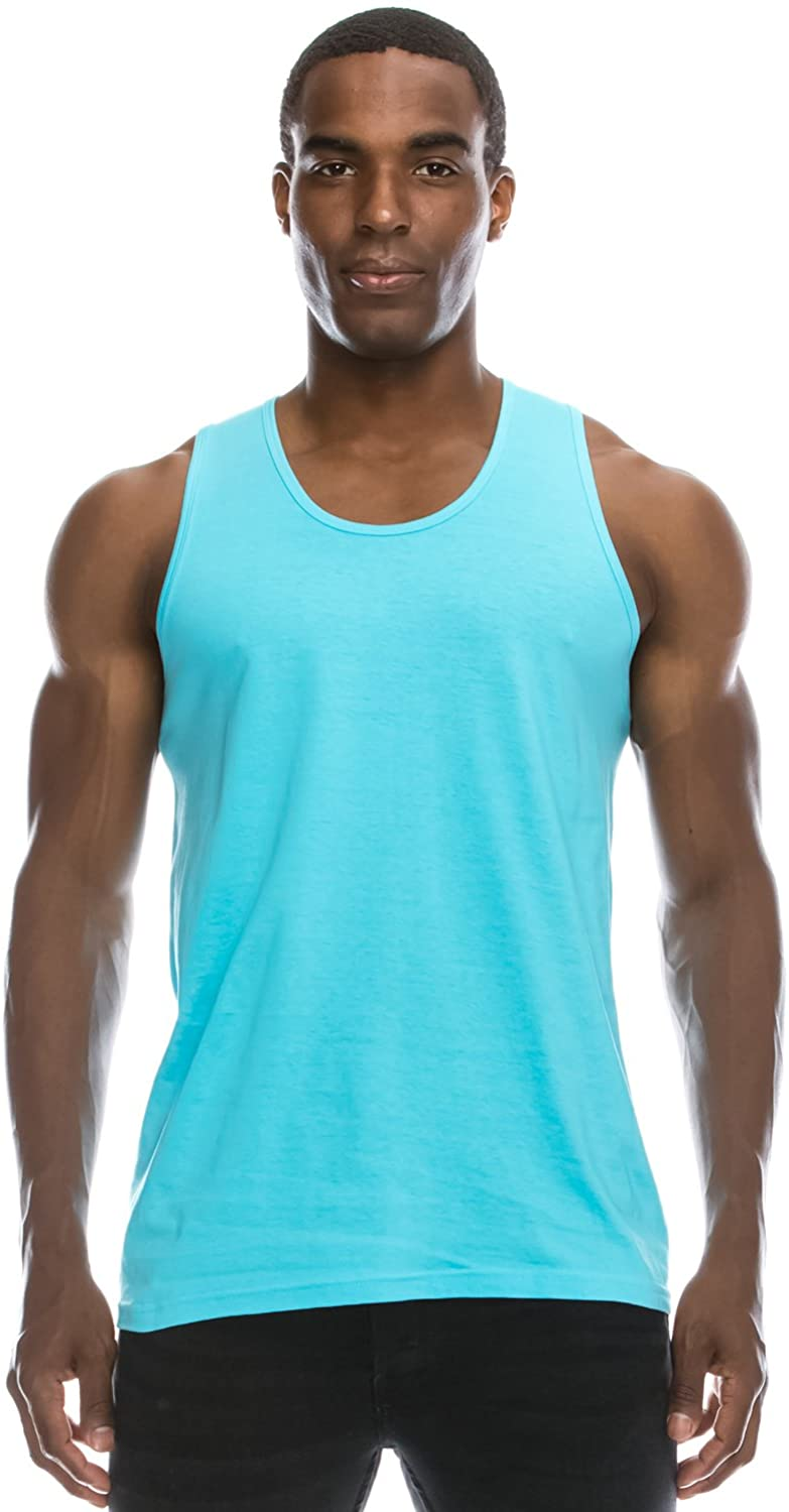 JC DISTRO Mens Basic Solid Tank Top Jersey Casual Shirts