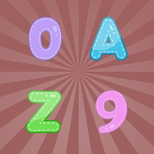 Buchstaben und Zahlen Carakuato. Lernspiel für Kinder, Kleinkinder, ältere Menschen oder Menschen mit kognitiven Beeinträchtigungen, um das Alphabet und die Zahlen zu lernen oder zu üben