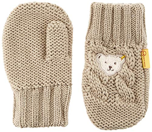 Steiff Jungen mit süßer Teddybärapplikation Handschuhe, Oxford TAN, 020