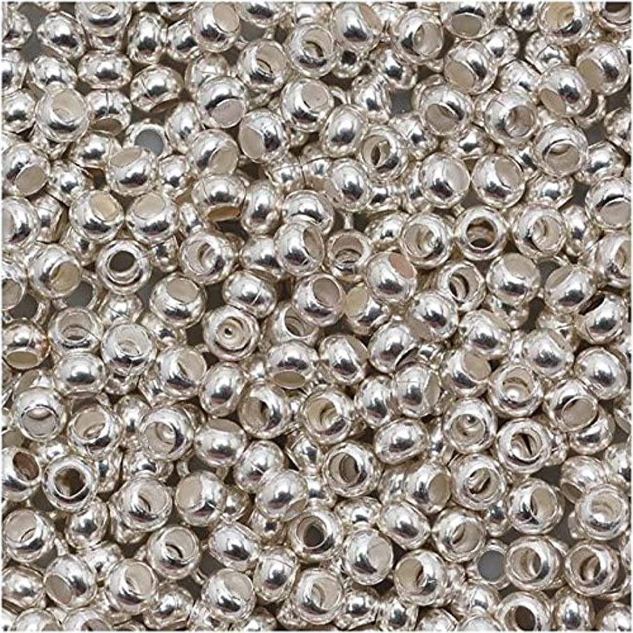 Beadaholique BMS-1106 Genuine 11/0 Silver Plated 16g Metal Seed Beads