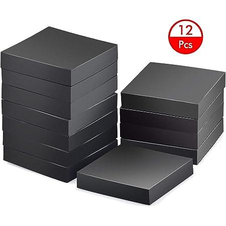 Hentek 12PCS Tapis Anti Vibration pour Machine À Laver, 10 x 10 x 2 cm Dalle Caoutchouc Isonorisant pour Réfrigérateur Chaises Canapé