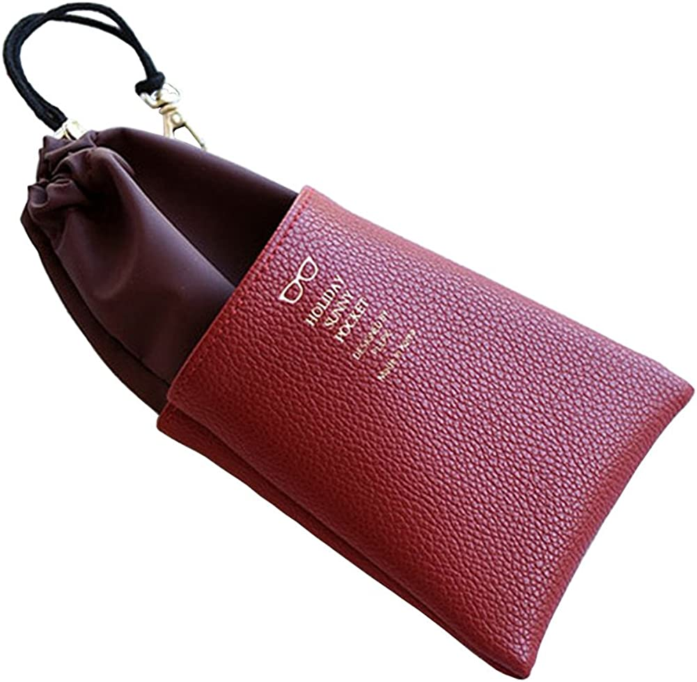 Eyeglasses Case Sunglasses Pouch Case With Metal Clips
