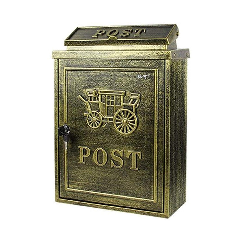 Rui Peng Mailbox - 電流を通されたシート、ロックのRainproof郵便箱が付いているヨーロッパの牧歌的な創造的なイギリスの屋外の壁、別荘、中庭、家のために適した - 利用できるパターンのバラエティ ウォールマウントメールボックス (色 : C)