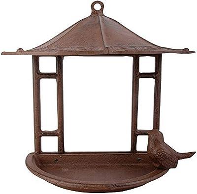 Esschert Design USA FB203 Cast Iron Wall Mount Bird Feeder