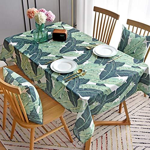 LSSM Impermeabile USA E Getta Personalizzato Tropicale Piantaggine Tavolino Copertura Panno Scrivania Tovaglia Rettangolare Tovaglia Tovaglia Tovaglie di Carta per Feste Verde 130 * 180Cm