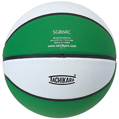 Tachikara Basketball aus Gummi, mittlere Größe, zweifarbig, (Kelly Green/White)