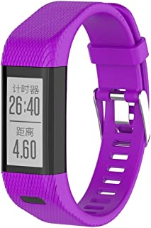 Consumer Electronics Smart Watch Silicone Wrist Strap Watchband for Garmin Vivosmart HR+ (Black) (Color : Purple)