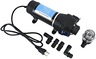 Amarine Made AC 110V Self Priming Water Pressure Diaphragm Pump 17LPM/4.5GPM AMPS:1.0A,MAX.AMPS:1.8A Press Setting:40PSI/2...