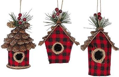 Delt Fairy Garden Cottage Home 12 x 6.5 Inch Resin Stone Hanging Birdhouse