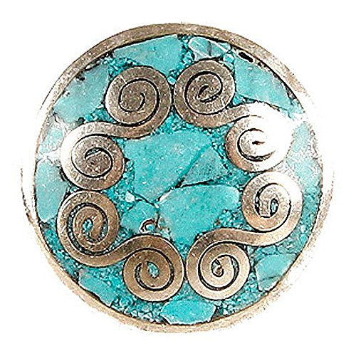 Noosa Chunk Chakra turquoise brass with turquoise