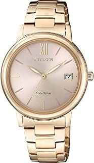 Citizen Analog Gold Dial Women's Watch-FE6093-87X