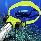 CREE XM-L T6 LED Stirnlampe Kopflampe Tauchen Unterwasser Licht Wasserdicht 30m Diving Lamp Light...