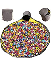 Toy Storage Organizer Baskets,ShowTop Large Play Mat Outdoor Toy Quick Storage Bag Collapsible Canvas Basket/Bin for Kids Room,Toy Organizer,Prize Box Toys for Classroom Storage