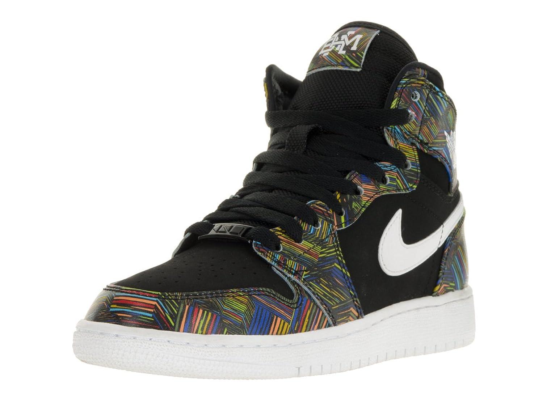 Nike Air Jordan 1 Retro High BHM GG Hi Top Trainers 739640 Sneakers Shoes (Uk 5 Eu 38, Black White Voltage Green 045)