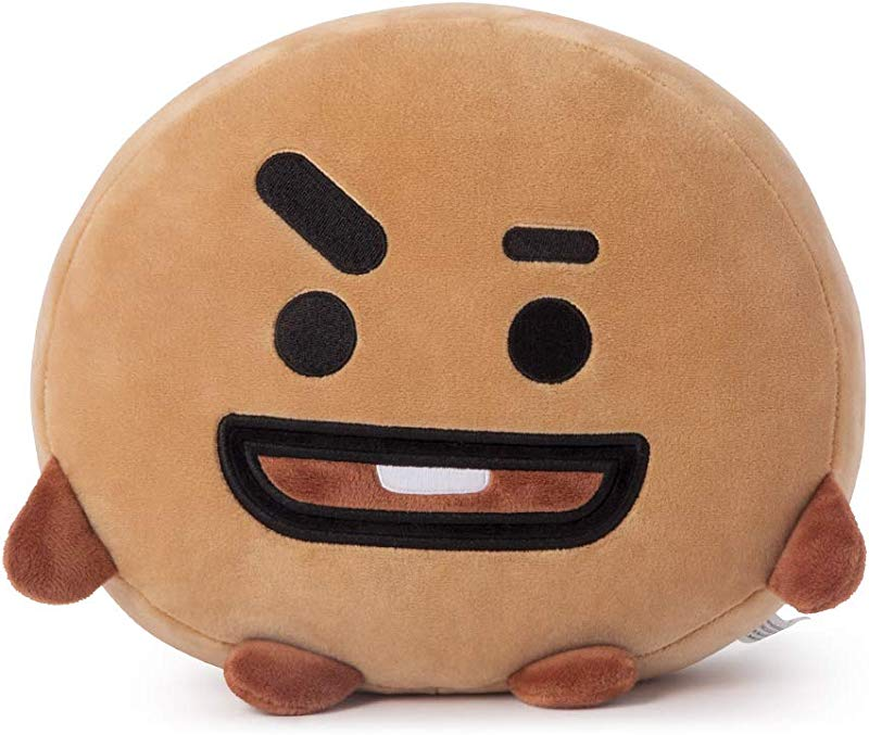 LINE FRIENDS BT21 Official Merchandise SHOOKY Mini Cushion Stuffed Pillow Beige