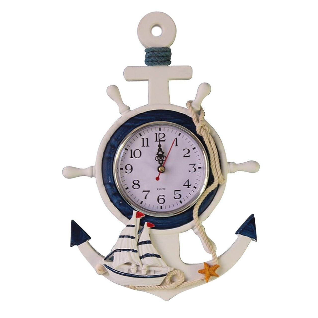 相談する説得支出壁掛け 時計 置きクロック 海洋スタイル 時計 ファッション時計 置物 全3種選べる - #2
