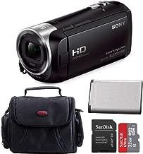 Sony HD Handycam Camcorder (Black) with Sony 32GB Accessory Bundle