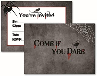 Come If You Dare: 15 Halloween Invitations with Envelopes for Adult, Themed, Costume, or Kids Party. Spooky Blood and Spider Card Invites. Invite Your Friends with These Perfect Party Supplies
