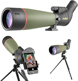 Gosky 2019 Updated 20-60x80 Spotting Scope with Tripod, Carrying Bag and Smartphone Adapter - BAK4 Angled Telescope - Newest Waterproof Scope for Target Shooting Hunting Bird Watching Wildlife Scenery