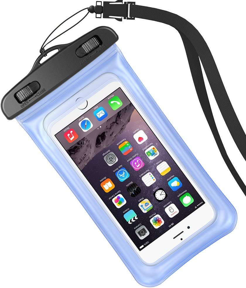 Travel Cellphone Waterproof Pouch Dry Bag Case for Samsung Galaxy S10 / S10+ / Note9 / Note8 / S9 Plus / S8 Plus / S8 Active/Motorola Moto z4 Play / z3 / g7 / z3 Play / g6 Play (Blue)