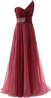 Prom Dresses for Women Long Formal Bridesmaid Dresses Beaded Ball Gown