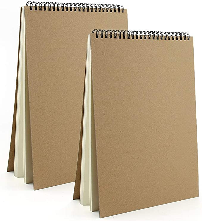 1058 opinioni per VEESUN Sketchbook A4 Spiralati 2pcs, Album da Disegno Quaderno Schizzi Pagine