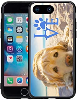 Golden Retriever with Love Paw for iPhone 7 Plus (2016) & iPhone 8 Plus (2017) (5.5) Case Cover by Atomic Market