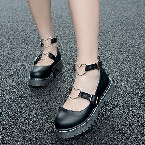 PINGXIANNV Zapatos Lolita Sweet Lolita Shoes Low Heel