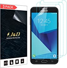 J&D Compatible for 3-Pack Galaxy J7 2017/Galaxy J7 V/Galaxy J7 Perx/Galaxy J7 Sky Pro Screen Protector, [Not Full Coverage] HD Clear Screen Protector for Samsung Galaxy J7 2017 Clear Screen Protector