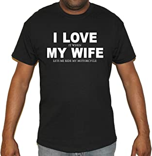 Biker Life USA Men's I Love It When My Wife Motorcycle T-Shirt