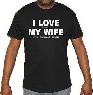 Biker Life USA Men's I Love It When My Wife Motorcycle T-Shirt