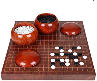 Luckyw Massivt trä vuxna och barn nybörjare klassisk schackbräde