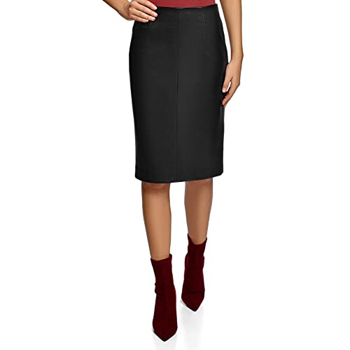 bbe3549589 oodji Collection Women's Faux Leather Pencil Skirt