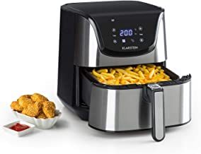 Stainless Steel Oil Drain Technology Silver Cool-Touch Housing Klarstein Family Fry Deep Fryer 3000W Cooking Basket in XXL Concept Cool Zone Process Infinitely Adjustable Thermostat